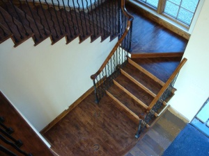 Mt Pleasant Ranch staircase